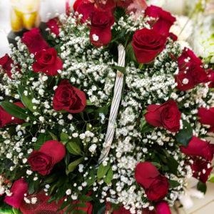 Μεγάλο Καλάθι με 39 τριανταφυλλα